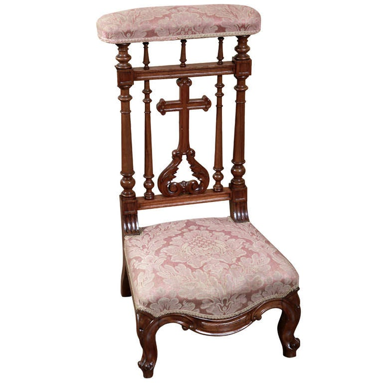 Furniture Items Antique French Walnut Prayer Kneeler At