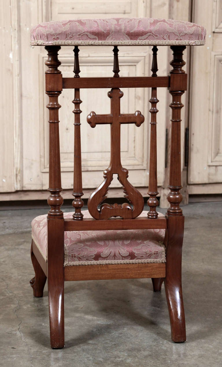 Antique French Walnut Prayer Kneeler At 1stdibs