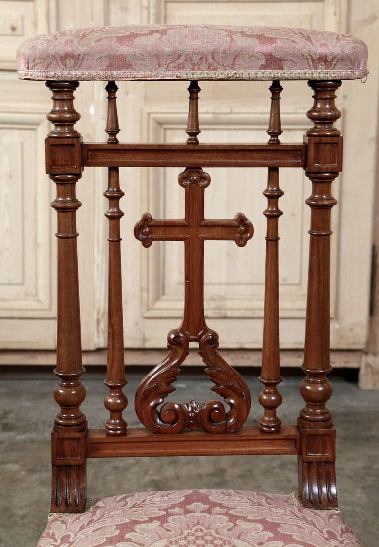 Antique French Walnut Prayer Kneeler At 1stdibs