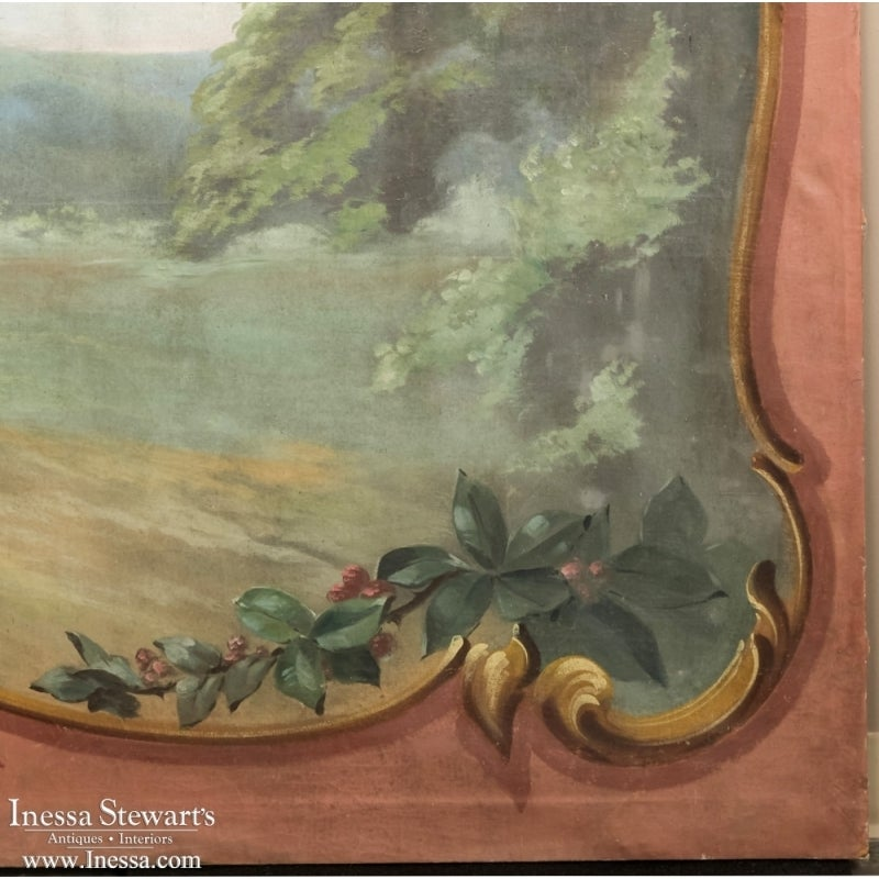 Antique french rococo oil painting on canvas at 1stdibs for Rococo period paintings