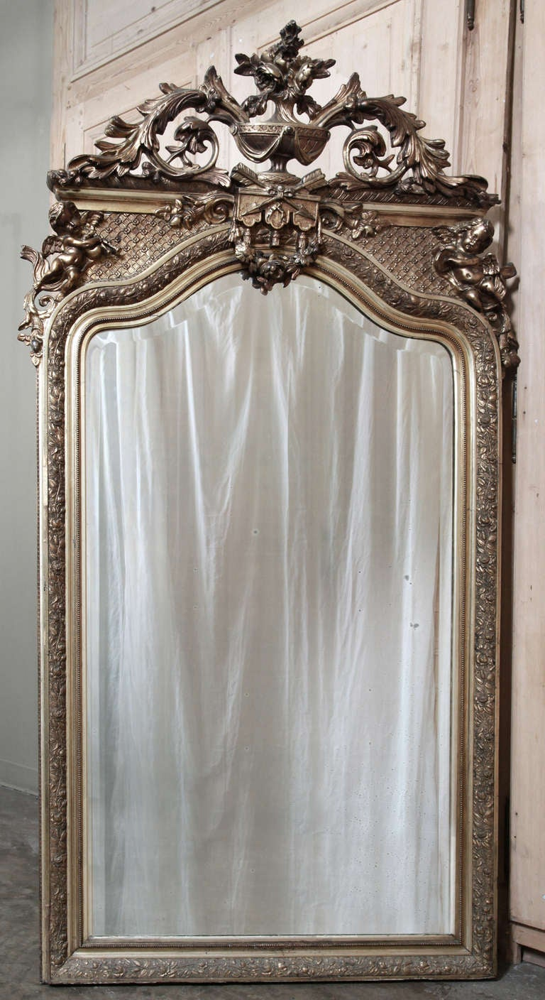 Antique French Louis Xiv Gilded Mirror Saturday Sale