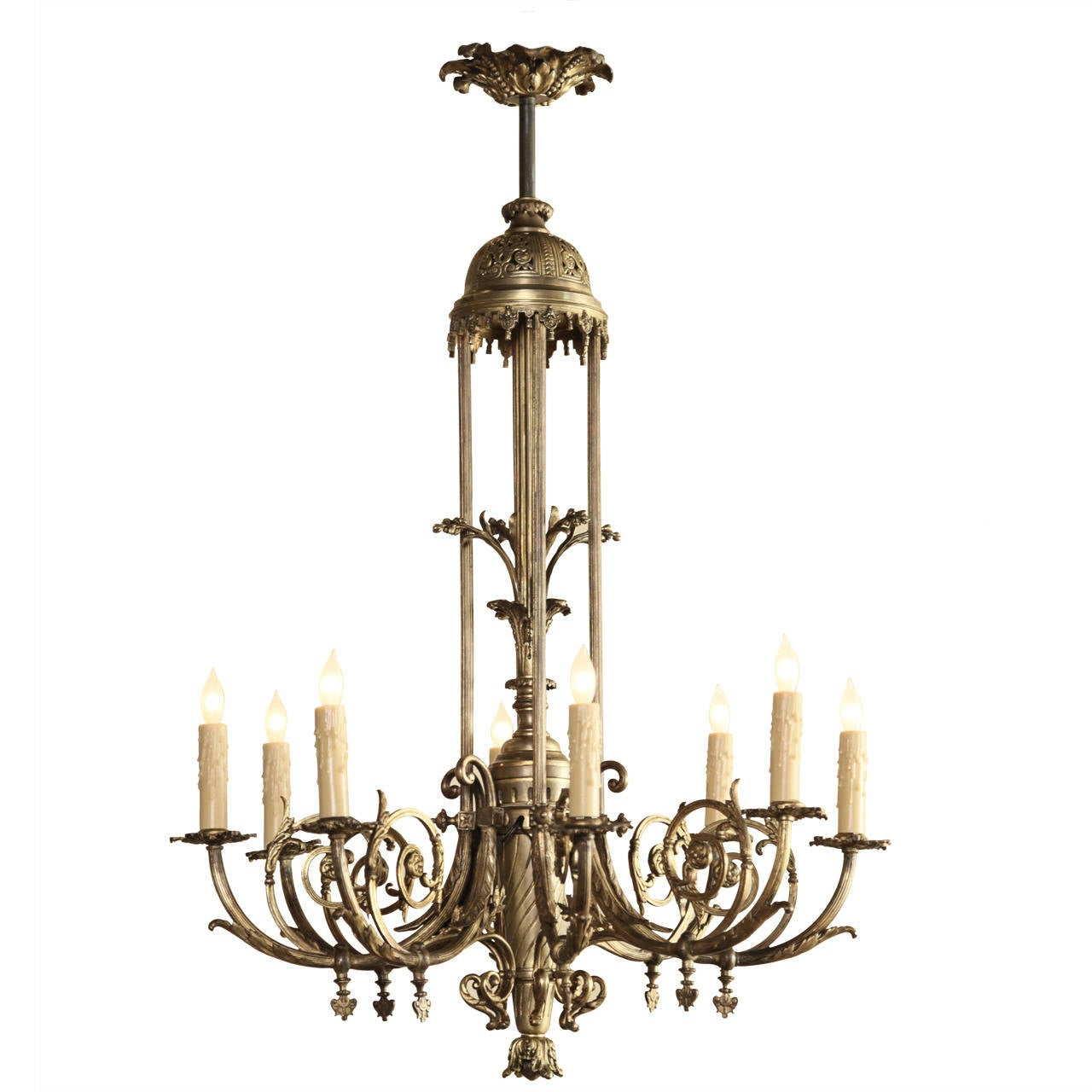Antique French Bronze Gasolier Chandelier at 1stdibs