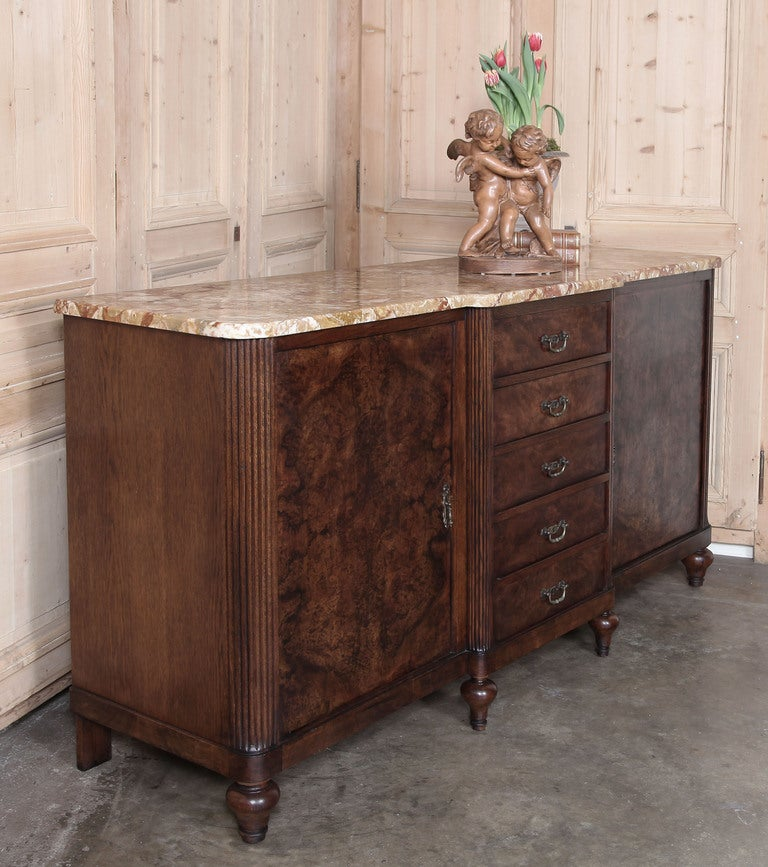 French Art Deco Marble Top Buffet At 1stdibs