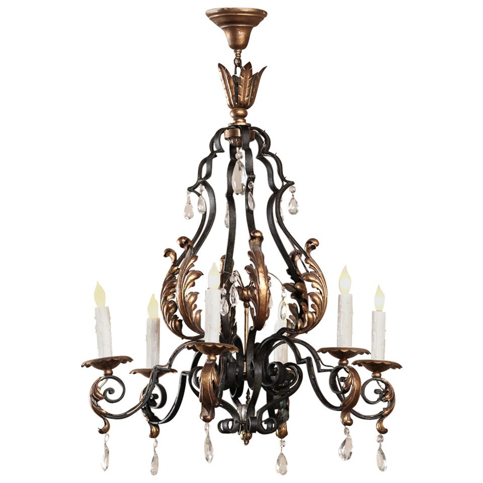 Country french painted wrought iron chandelier with French country chandelier