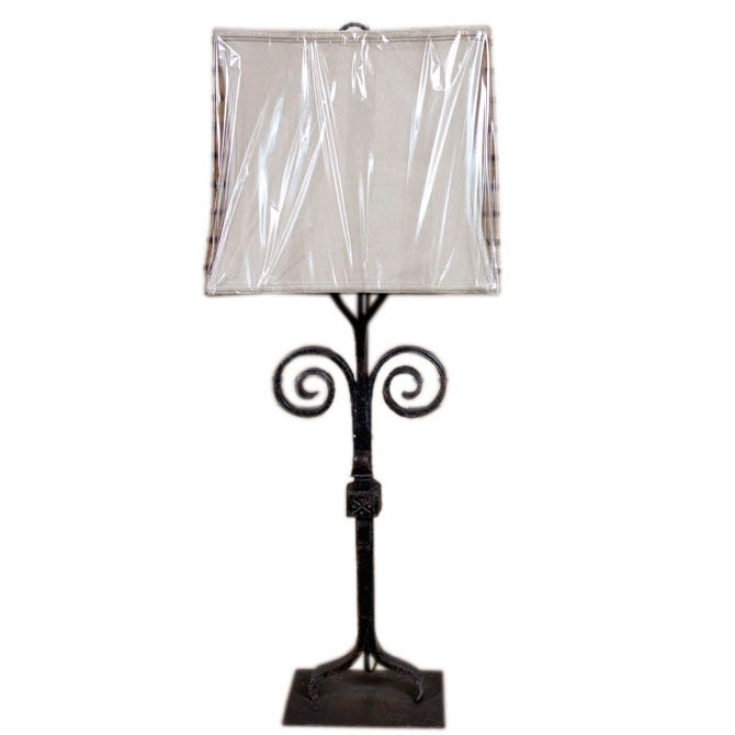 antique provencal wrought iron table lamp at 1stdibs. Black Bedroom Furniture Sets. Home Design Ideas