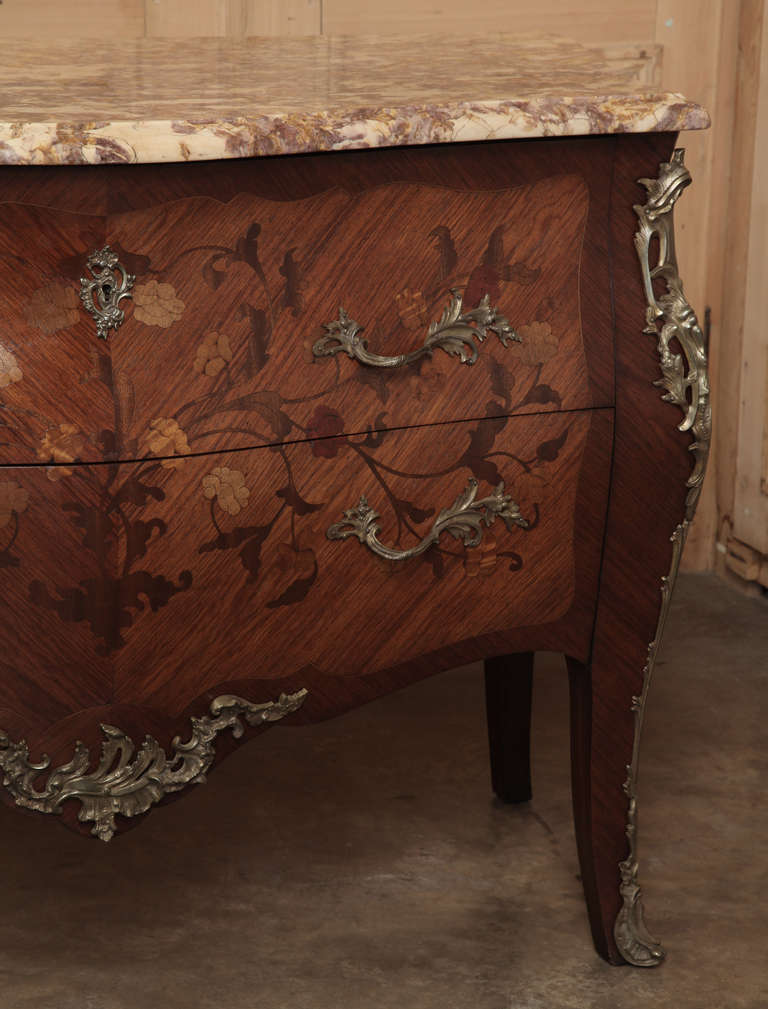 Antique French Louis Xv Bombe Marble Top Commode At 1stdibs