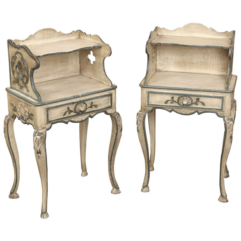 antique night stands furniture nightstands and bedside tables found pair french kijiji
