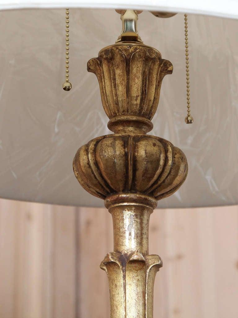 Vintage Venetian Giltwood Floor Lamp At 1stdibs