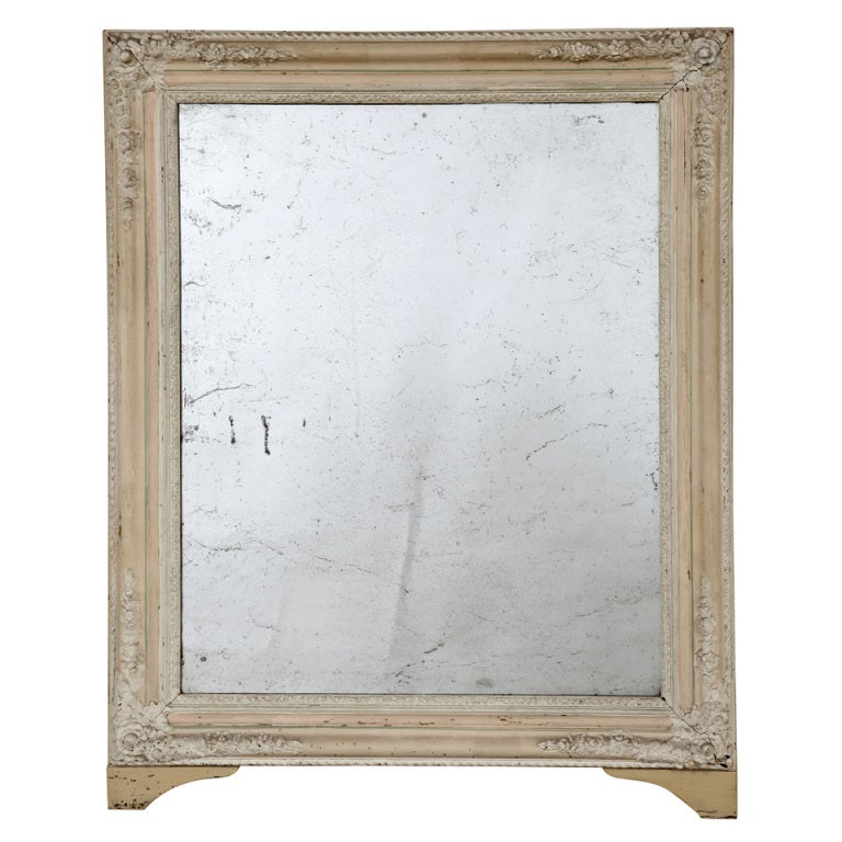 Antique Painted Powder Room Mirror At 1stdibs