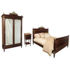 Antique French Louis XVI Bedroom Set (Signed Bastet)