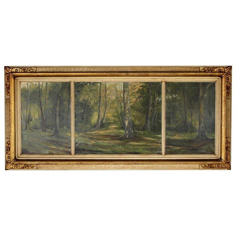 Antique Framed Flemish Triptych At 1stdibs
