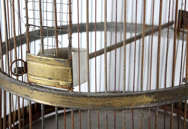 Antique Metal Parrot Cage At 1stdibs