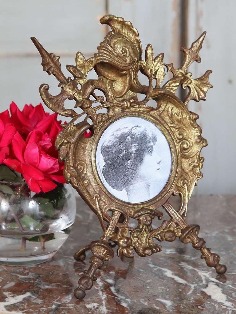 Antique Renaissance Cast Iron Picture Frame 2