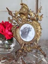 Antique Renaissance Cast Iron Picture Frame image 2