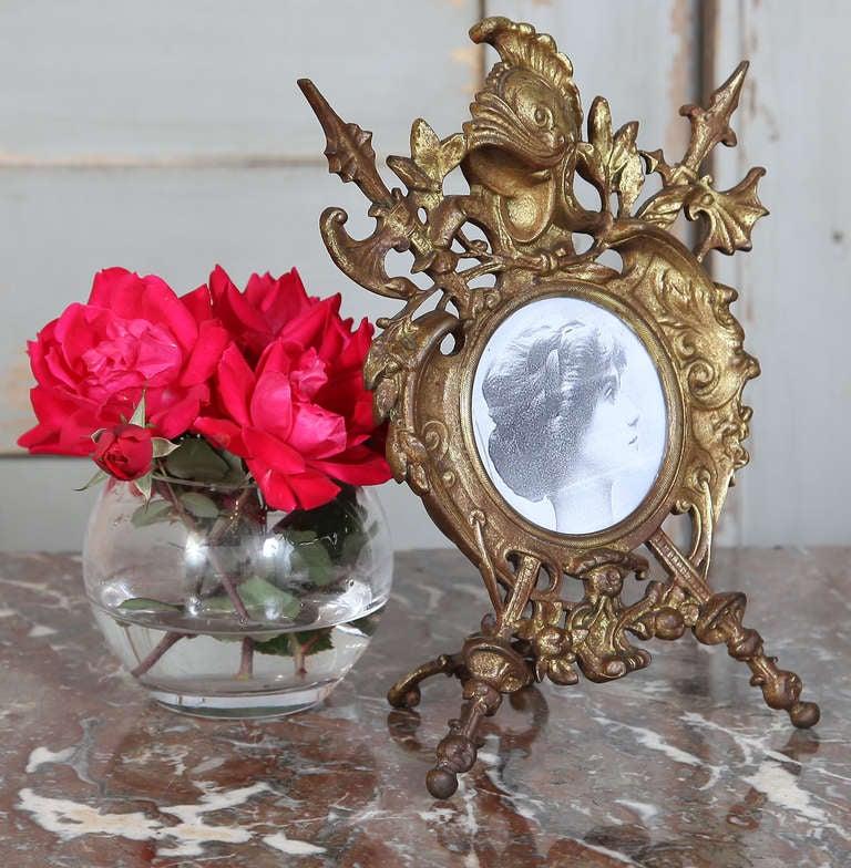 Antique Renaissance Cast Iron Picture Frame 3