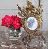 Antique Renaissance Cast Iron Picture Frame image 3