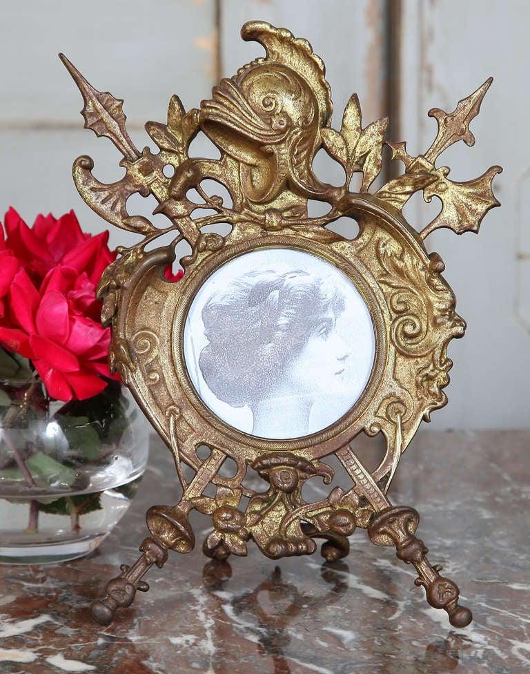 Antique Renaissance Cast Iron Picture Frame 4