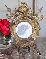 Antique Renaissance Cast Iron Picture Frame image 4