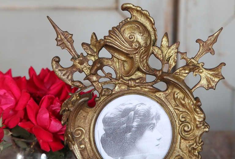 Antique Renaissance Cast Iron Picture Frame 5