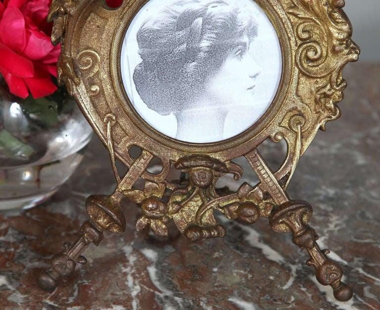 Antique Renaissance Cast Iron Picture Frame 6