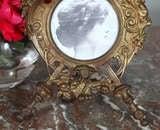 Antique Renaissance Cast Iron Picture Frame image 6