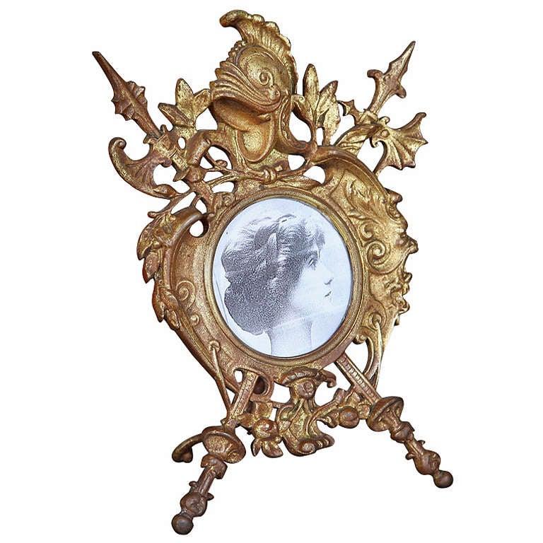 Antique Renaissance Cast Iron Picture Frame 1
