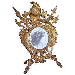 Antique Renaissance Cast Iron Picture Frame