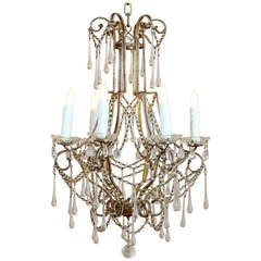 Antique Venetian Crystal Chandelier