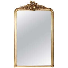 Antique French Napoleon III Gilded Mirror