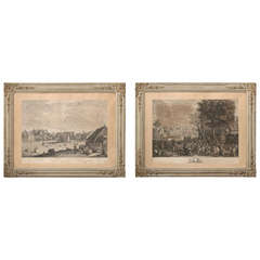 Pair of Antique Framed Lithographs