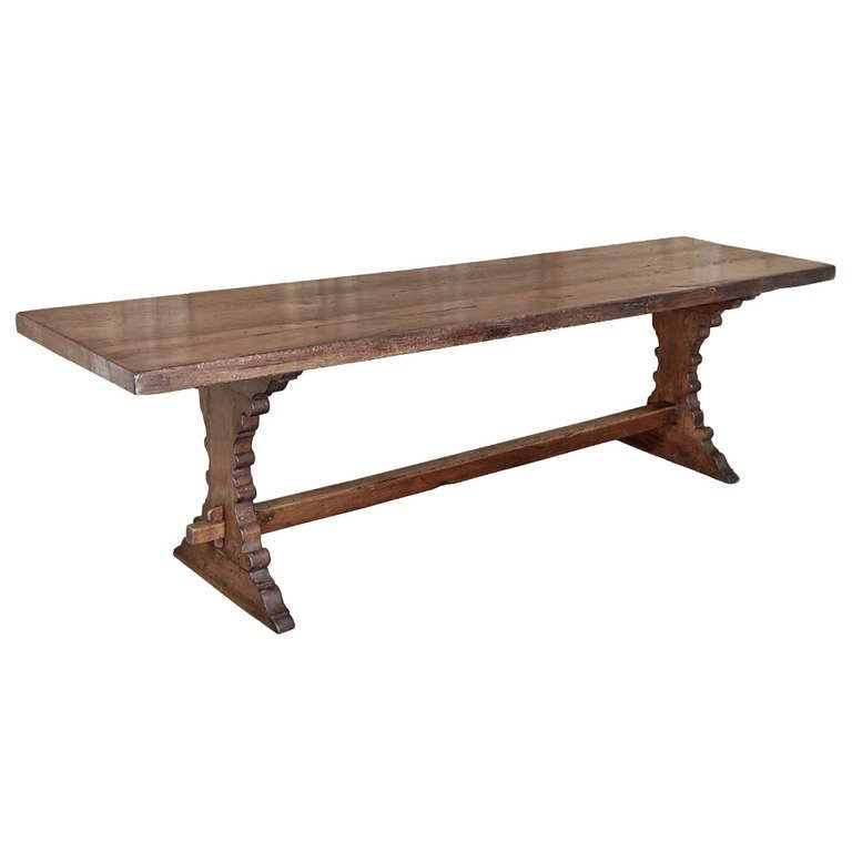 Rustic Tuscan Trestle Table 1