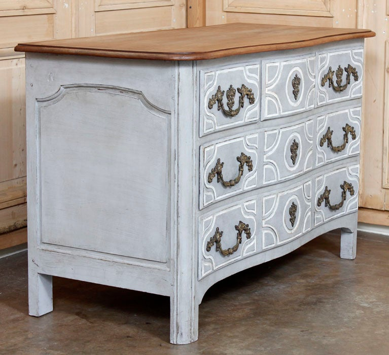 Antique Regence Painted Provencal Commode image 8