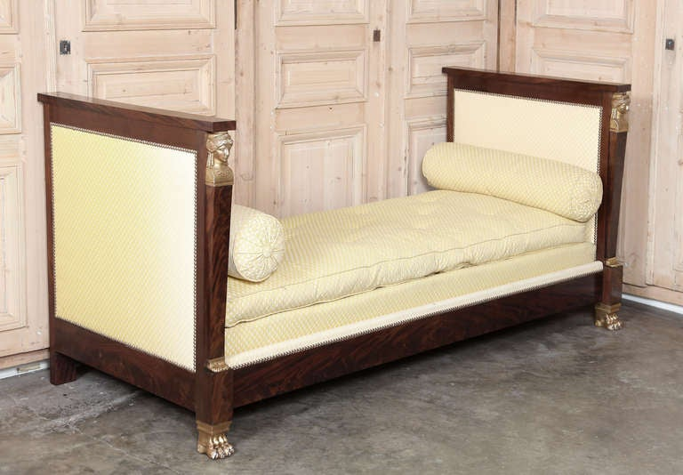 Antique 2nd Empire Period Day Bed 9