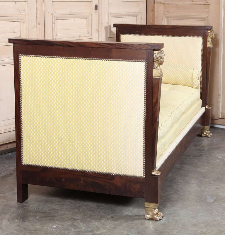 Antique 2nd Empire Period Day Bed 10