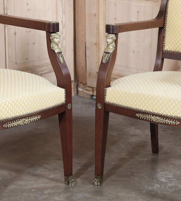 Pair Antique 2nd Empire Armchairs At 1stdibs