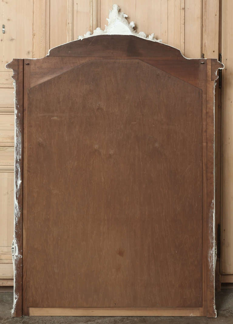 Antique French Louis Xv Walnut Mirror At 1stdibs