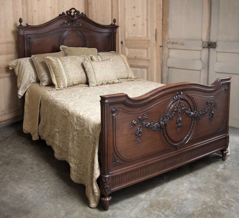 Antique French Louis Xvi Queen Bed At 1stdibs