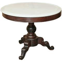 Antique Napoleon III Marble Top Center Table