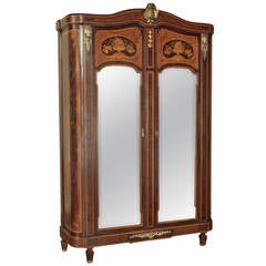 19th Century Neoclassical Marquetry Armoire