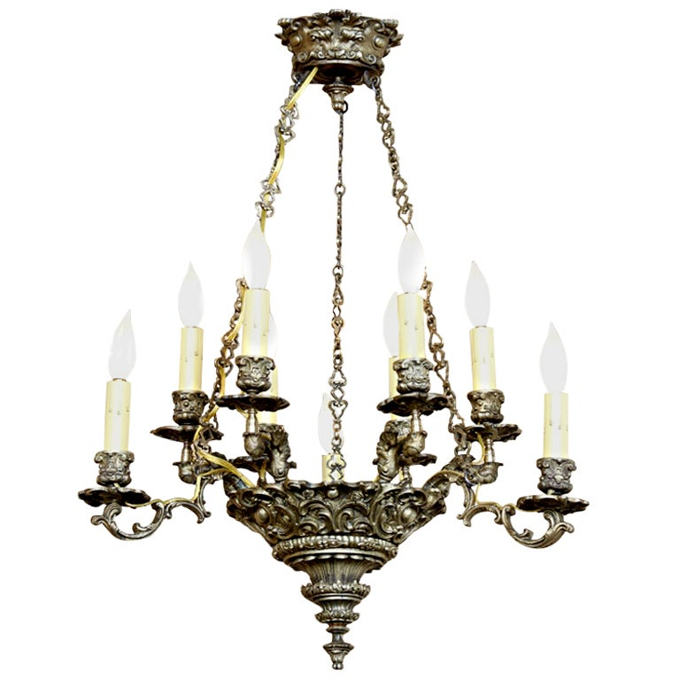 Antique Louis Xiv Bronze Chandelier At 1stdibs