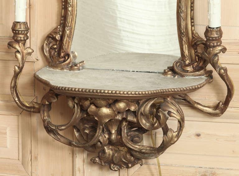 vintage italian rococo lighted vanity mirror at 1stdibs. Black Bedroom Furniture Sets. Home Design Ideas