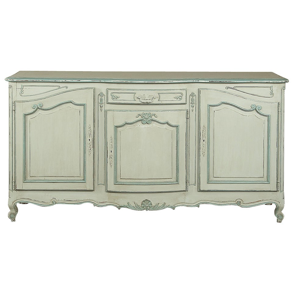 Antique Country French Painted Buffet For