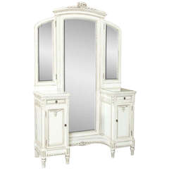Vintage French Louis XV Painted Vanity