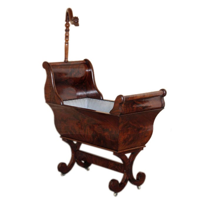 Louis Philippe Period Mahogany Cradle At 1stdibs