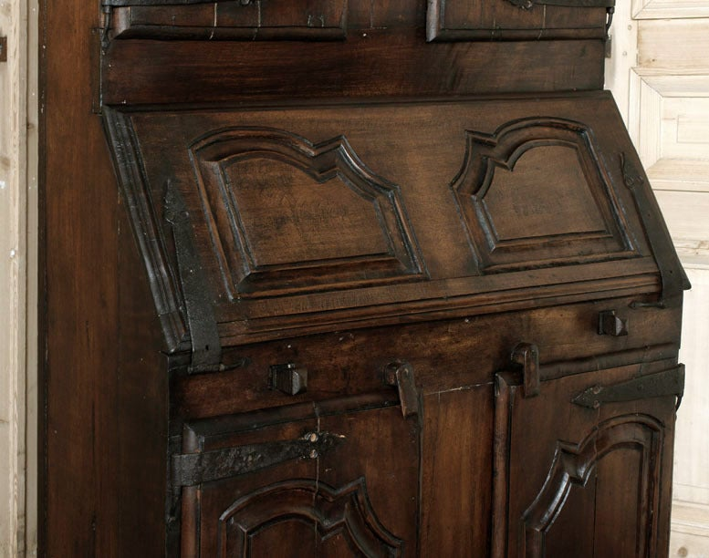 Antique Rustic Secretary Bookcase At 1stdibs