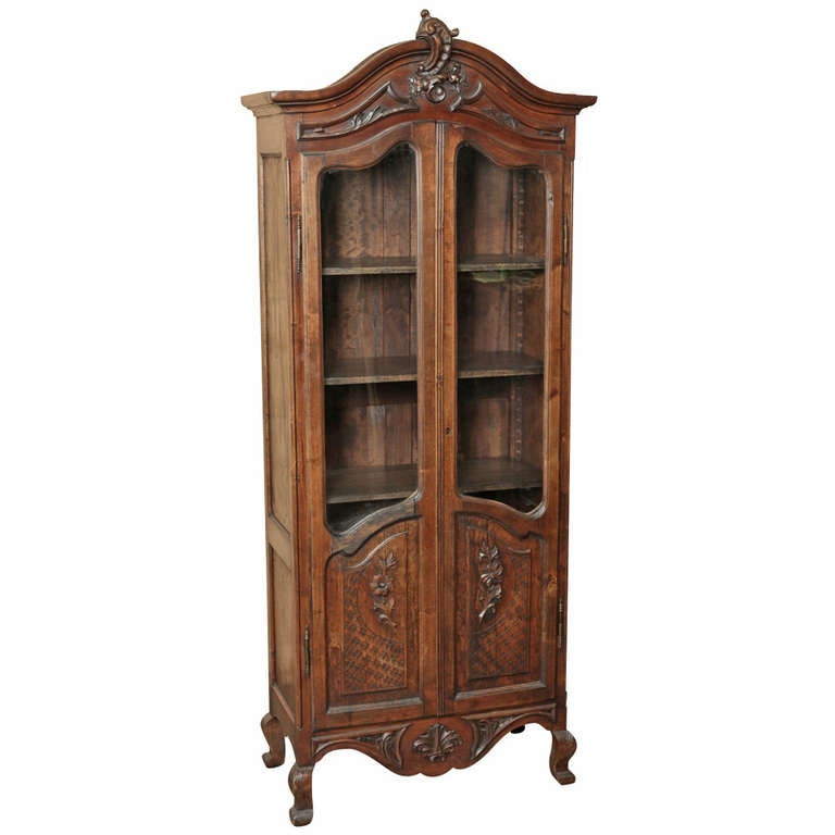 antique country french vitrine at 1stdibs. Black Bedroom Furniture Sets. Home Design Ideas