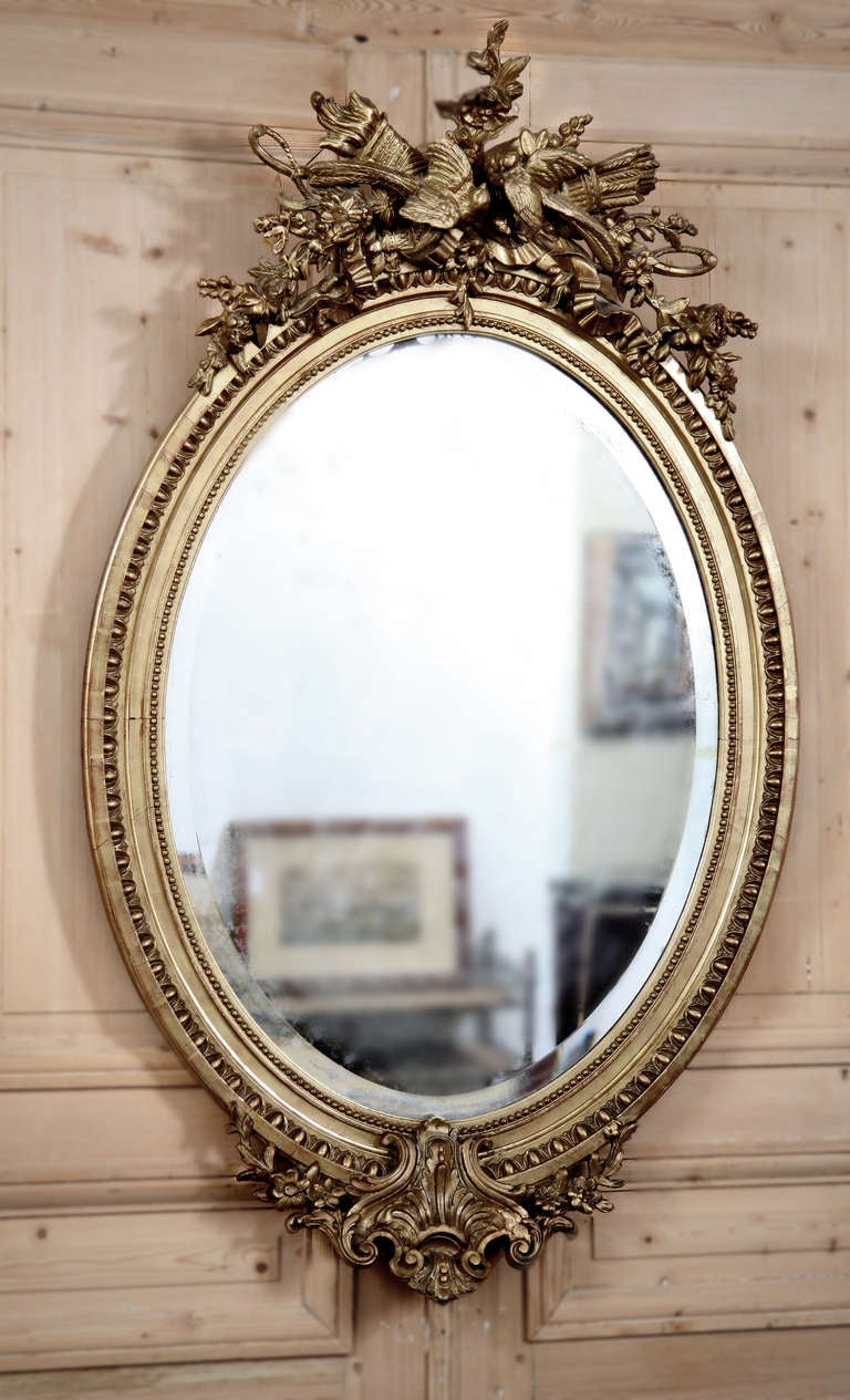 Antique beaux artes french louis xvi mirror at 1stdibs for French mirror