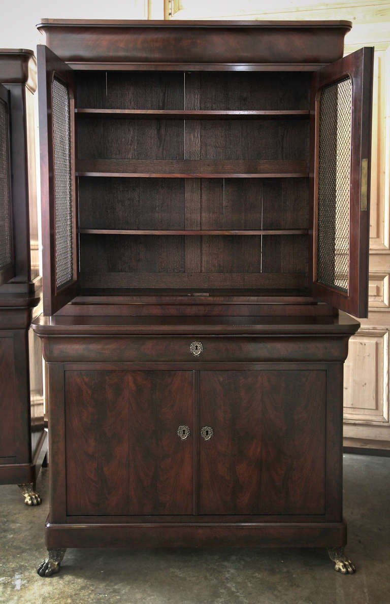Pair Of Antique Louis Philippe Bookcases At 1stdibs