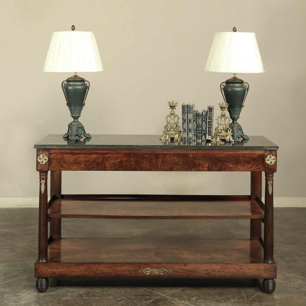 19th Century Second Empire Marble Top Console Sofa Table At 1stdibs