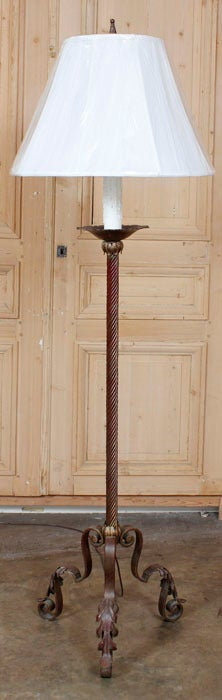 Antique Wrought Iron Floor Lamp At 1stdibs